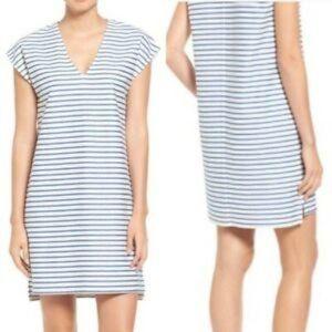 Madewell | Blue Striped Vacances Tunic Dress